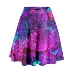 Melting In Purple High Waist Skirt by KirstenStar