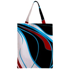 Blue, Red, Black And White Design Zipper Classic Tote Bag by Valentinaart