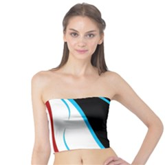 Blue, Red, Black And White Design Tube Top by Valentinaart