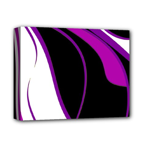 Purple Elegant Lines Deluxe Canvas 14  X 11  by Valentinaart