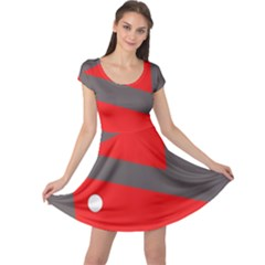 Decorative Abstraction Cap Sleeve Dresses by Valentinaart