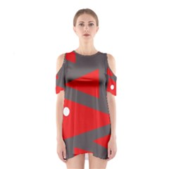 Decorative Abstraction Cutout Shoulder Dress by Valentinaart