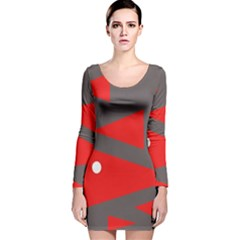 Decorative Abstraction Long Sleeve Velvet Bodycon Dress by Valentinaart