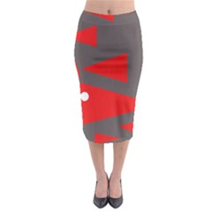 Decorative Abstraction Midi Pencil Skirt by Valentinaart
