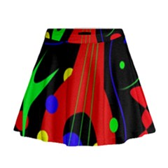 Abstract Guitar  Mini Flare Skirt by Valentinaart