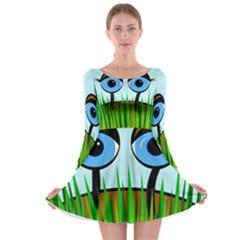 Snail Long Sleeve Skater Dress by Valentinaart