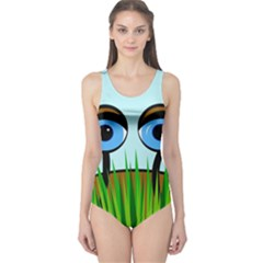 Snail One Piece Swimsuit by Valentinaart