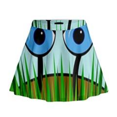 Snail Mini Flare Skirt by Valentinaart