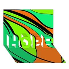 Green and orange HOPE 3D Greeting Card (7x5)