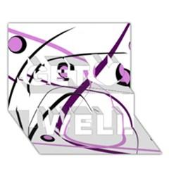 Pink Elegant Design Get Well 3d Greeting Card (7x5)  by Valentinaart