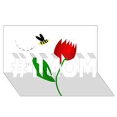 Red Tulip And Bee #1 Mom 3d Greeting Cards (8x4)  by Valentinaart