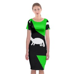 Wolf And Sheep Classic Short Sleeve Midi Dress by Valentinaart