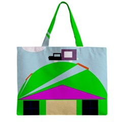 Abstract Landscape  Zipper Mini Tote Bag by Valentinaart
