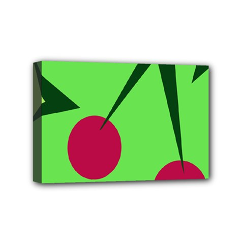Cherries  Mini Canvas 6  X 4  by Valentinaart