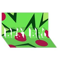 Cherries  Best Bro 3d Greeting Card (8x4)  by Valentinaart