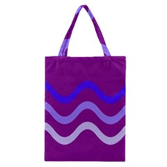 Purple Waves Classic Tote Bag by Valentinaart