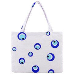Mediterranean Blue Eyes Mini Tote Bag by Valentinaart
