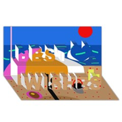 On The Beach  Best Wish 3d Greeting Card (8x4)