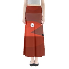 Red Monster Fish Maxi Skirts