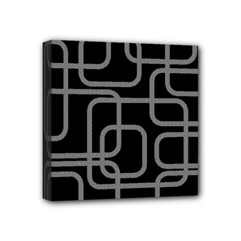 Black And Gray Decorative Design Mini Canvas 4  X 4  by Valentinaart