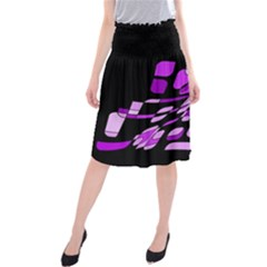 Purple Decorative Abstraction Midi Beach Skirt