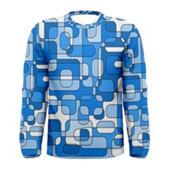 Blue Decorative Abstraction Men s Long Sleeve Tee by Valentinaart