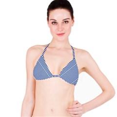 Nautical Striped Bikini Top by olgart
