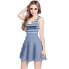 Nautical Striped Reversible Sleeveless Dress by olgart