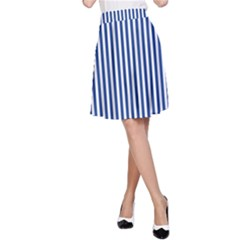 Nautical striped A-Line Skirt by olgart