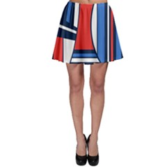 Abstract Nautical Skater Skirt by olgart