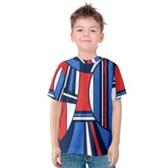 Abstract Nautical Kid s Cotton Tee by olgart