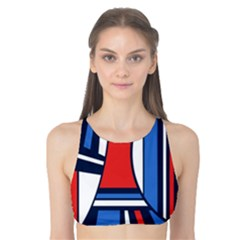 Abstract nautical Tank Bikini Top by olgart