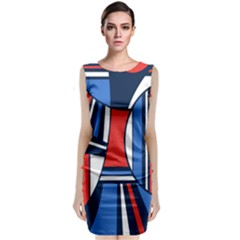 Abstract Nautical Classic Sleeveless Midi Dress by olgart