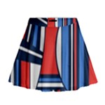 Abstract nautical Mini Flare Skirt
