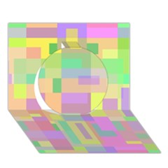 Pastel Colorful Design Circle 3d Greeting Card (7x5)  by Valentinaart