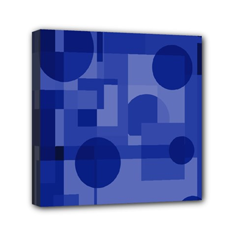 Deep Blue Abstract Design Mini Canvas 6  X 6  by Valentinaart