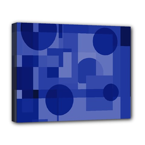 Deep blue abstract design Deluxe Canvas 20  x 16   by Valentinaart