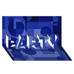 Deep Blue Abstract Design Party 3d Greeting Card (8x4)  by Valentinaart