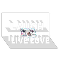 Picmix Com 5004827 Laugh Live Love 3D Greeting Card (8x4)  by jpcool1979