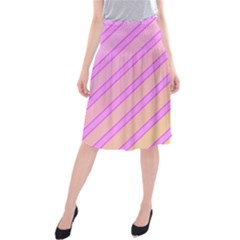 Pink And Yellow Elegant Design Midi Beach Skirt