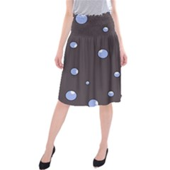 Blue Bubbles Midi Beach Skirt by Valentinaart