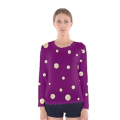 Purple and yellow bubbles Women s Long Sleeve Tee by Valentinaart
