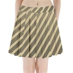 Golden Elegant Lines Pleated Mini Mesh Skirt by Valentinaart