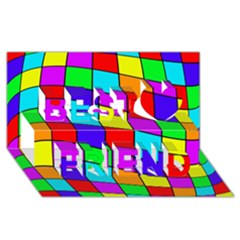 Colorful Cubes Best Friends 3d Greeting Card (8x4)  by Valentinaart