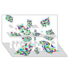 Colorful Abstraction Best Wish 3d Greeting Card (8x4)  by Valentinaart