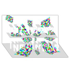 Colorful Abstraction Happy New Year 3d Greeting Card (8x4)  by Valentinaart