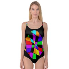 Abstract colorful flower Camisole Leotard