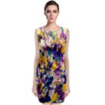 Flower Petal Brushstrokes Classic Sleeveless Midi Dress