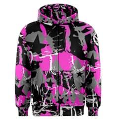 Pink Scene Kid Men s Zipper Hoodie by ArtistRoseanneJones