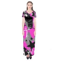 Pink Scene Kid Short Sleeve Maxi Dress by ArtistRoseanneJones